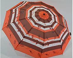 """Женский зонтик-полуавтомат """"Nature"""" на 10 спиц, от SL, красный, 477-3"""
