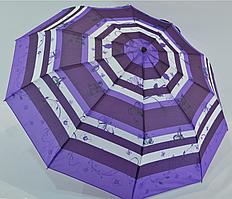 """Женский зонтик-полуавтомат """"Nature"""" на 10 спиц, от SL, фиолетовый, 477-2"""