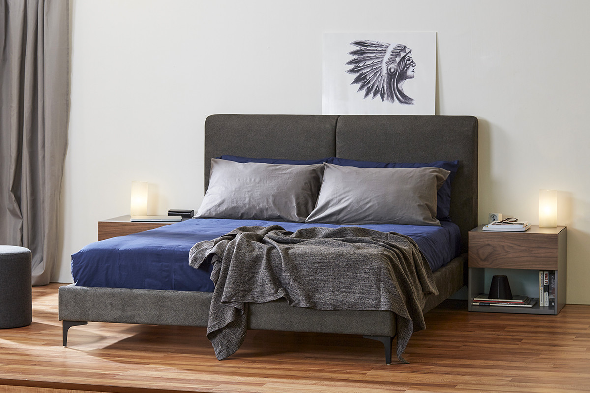 Кровать Милано domini с мягким изголовьем