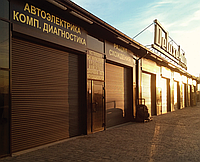 Ворота гаражные рулонные роллетные Alutech, 3500х2000, профиль AG/77 с накладным монтажом, фото 1