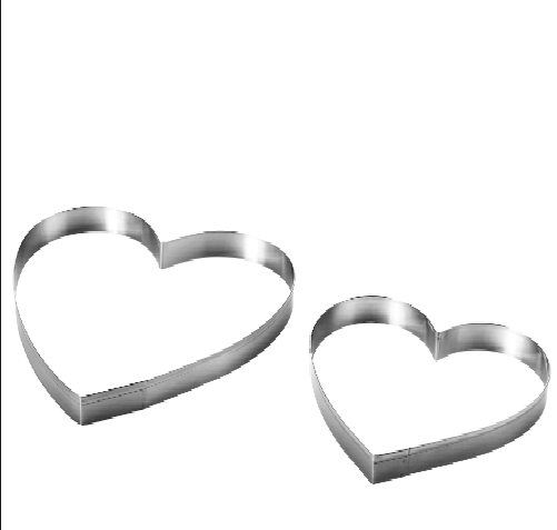 """Вырубка для пряника """"Сердце 2 шт"""" Галетте - 05516"""