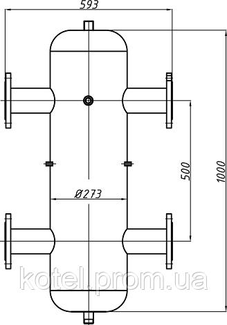 Схема и размеры гидравлической стрелки СК-31