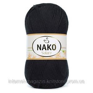 Пряжа Nako Solare Черный