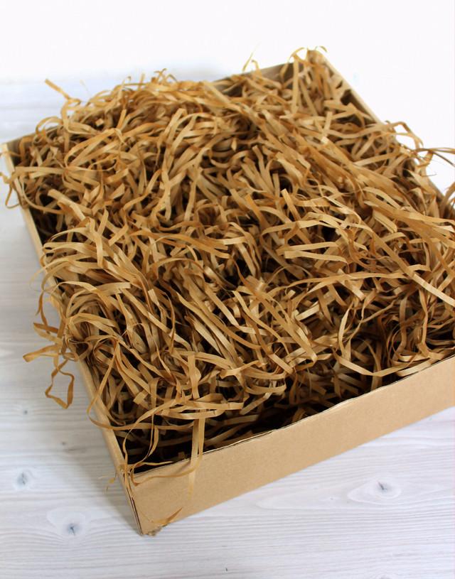 Наполнитель для подарка Тишью коричневого цвета 10 грамм
