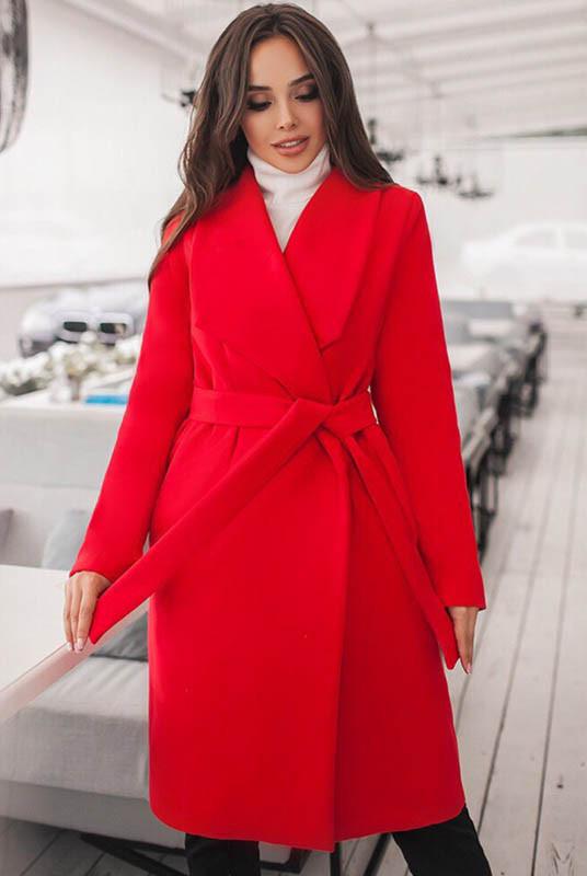 Красное демисезонное пальто Бентли