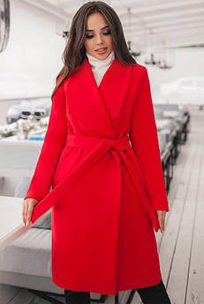 Червоне демісезонне пальто Бентлі