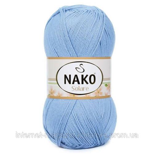Пряжа Nako Solare Голубой