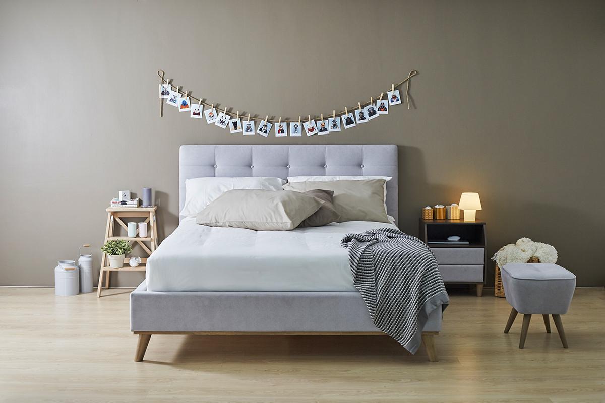 Кровать Ювента с мягким изголовьем domini