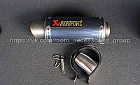 Прямоточный глушитель Akrapovic Carbon Mini, фото 1