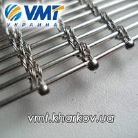 Сетка конвейерная нержавеющая тросиковая 11/3,6, фото 1