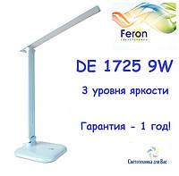Настольный светодиодный светильник  Feron DE1725 голубой 9W