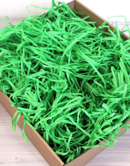 Наполнитель для подарка Тишью зеленого цвета 10 грамм
