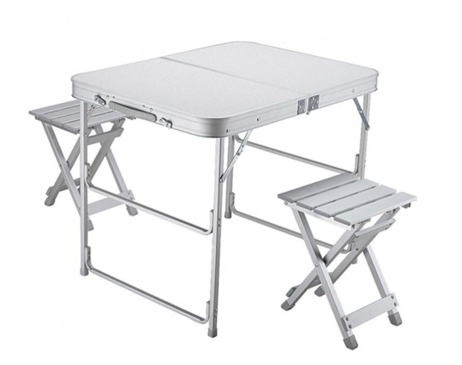 Стол складной Norfin BOREN NF алюминиевый 80x60 (+2 стула набор)