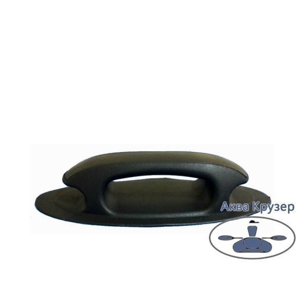 Ручка ПВХ лита човнова - велика кнехтовая, колір чорний