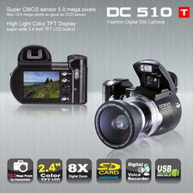 Protax DC510T 12Mpx Цифровая фотокамера/HD видео