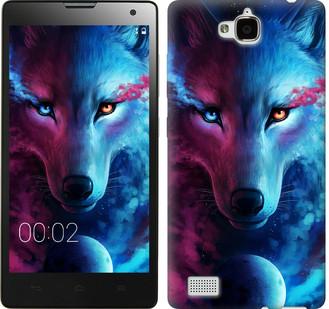 """Чехол на Huawei Honor 3C Арт-волк """"3999u-307-19380"""""""