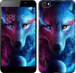 "Чехол на Huawei Honor 6 Арт-волк ""3999u-175-19380"""