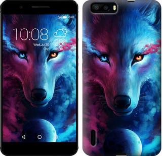 "Чехол на Huawei Honor 6 Plus Арт-волк ""3999u-179-19380"""