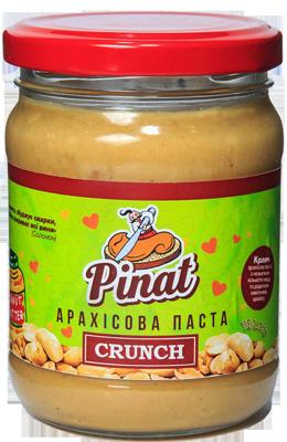 Арахисовая паста Pinat - Crunch (250 грамм)