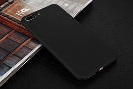Чехол для Apple Iphone 7 Plus силикон soft touch бампер черный