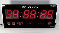 Электронные светодиодные часы CW 4622, цифровые часы с календарём и термометром, фото 1
