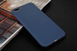 Чехол для Apple Iphone 7 Plus силикон soft touch бампер темно-синий