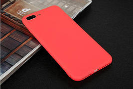 Чехол для Apple Iphone 7 Plus силикон soft touch бампер красный