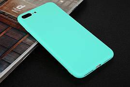 Чехол для Apple Iphone 7 Plus силикон soft touch бампер мятно-голубой