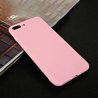 Чехол для Apple Iphone 7 Plus силикон soft touch бампер светло-розовый