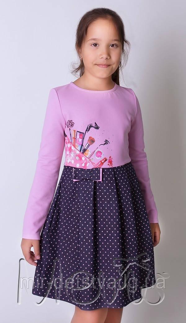 Нарядное детское платье для девочки ТМ Мевис оптом р.128, 134, 140, 146 см