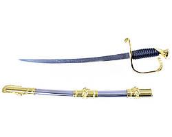 Сувенирное оружие Французской Кавалерии сабля в золоте на подставке вертикальная + ножны для подвеса