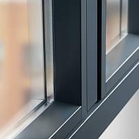 Цветное пластиковое ламинированное окно Rehau нестандартного цвета