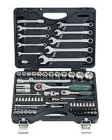 """Набор инструмента комбинирован 1/2""""-1/4"""" 82ед.(Surface drive для поврежденных граней) FORCE 4821R."""