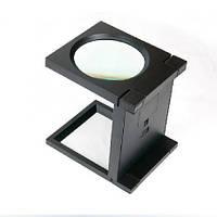 Лупа настольная складная с LED подсветкой, увеличение 3х, диметр 110, MG14116-A