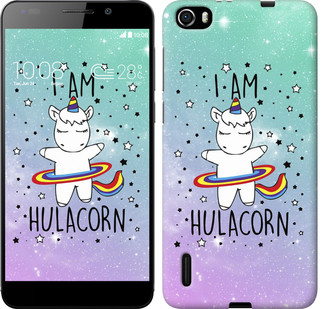 "Чехол на Huawei Honor 6 I'm hulacorn ""3976u-175-19380"""
