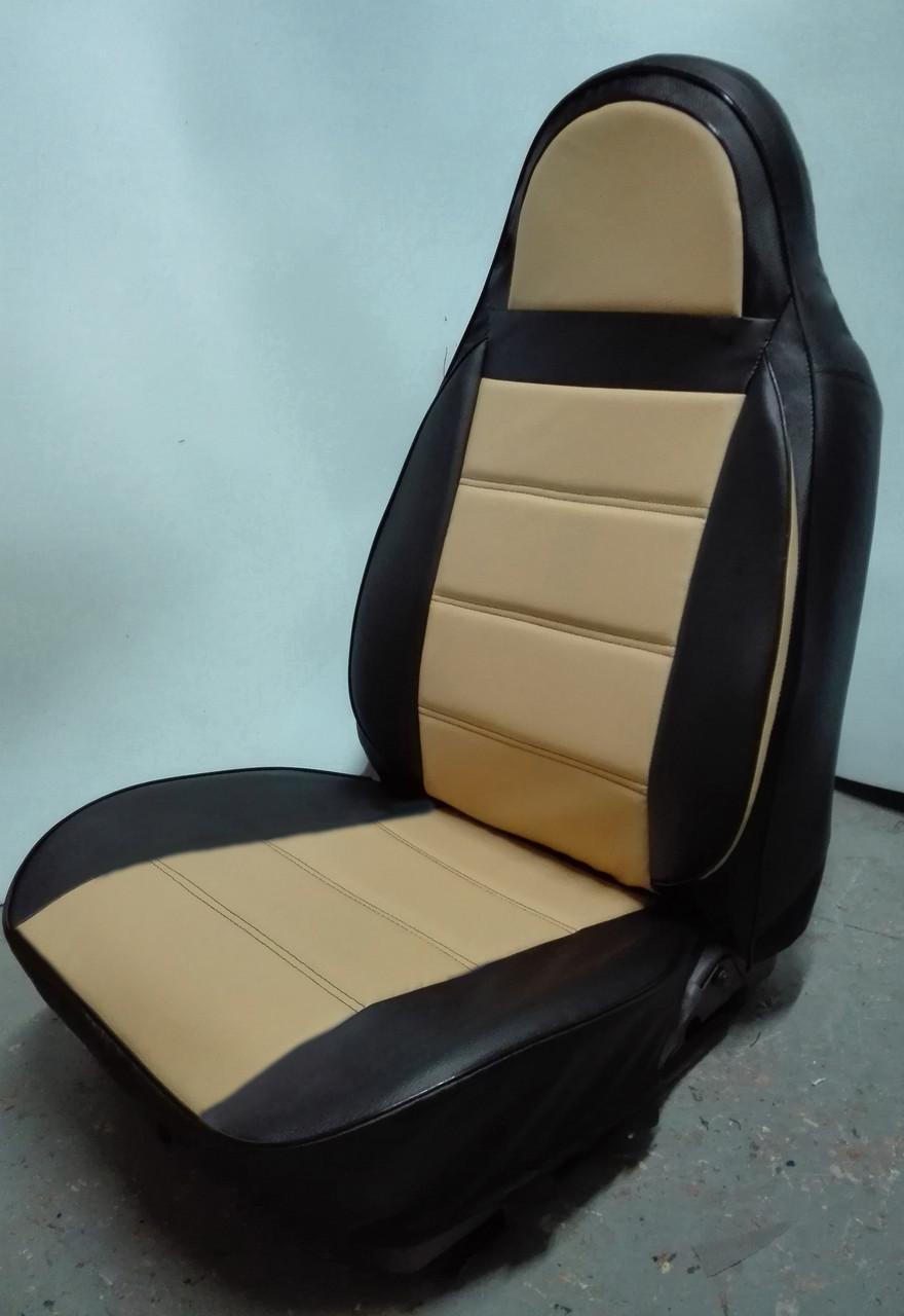 Чехлы на сиденья БМВ Е46 (BMW E46) (универсальные, кожзам, пилот)