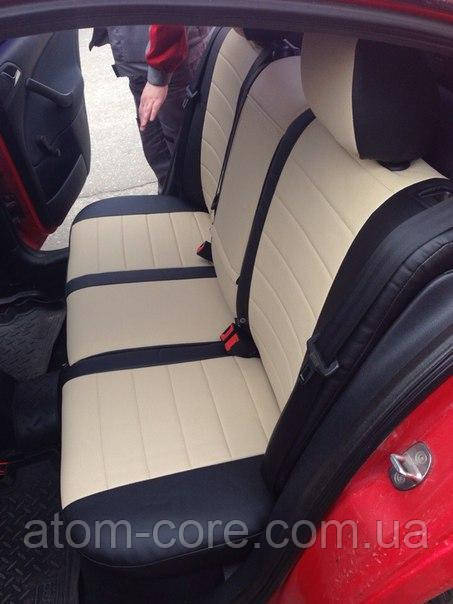 Чехлы на сиденья Форд Транзит (Ford Transit) 1+1  (универсальные, кожзам, пилот)