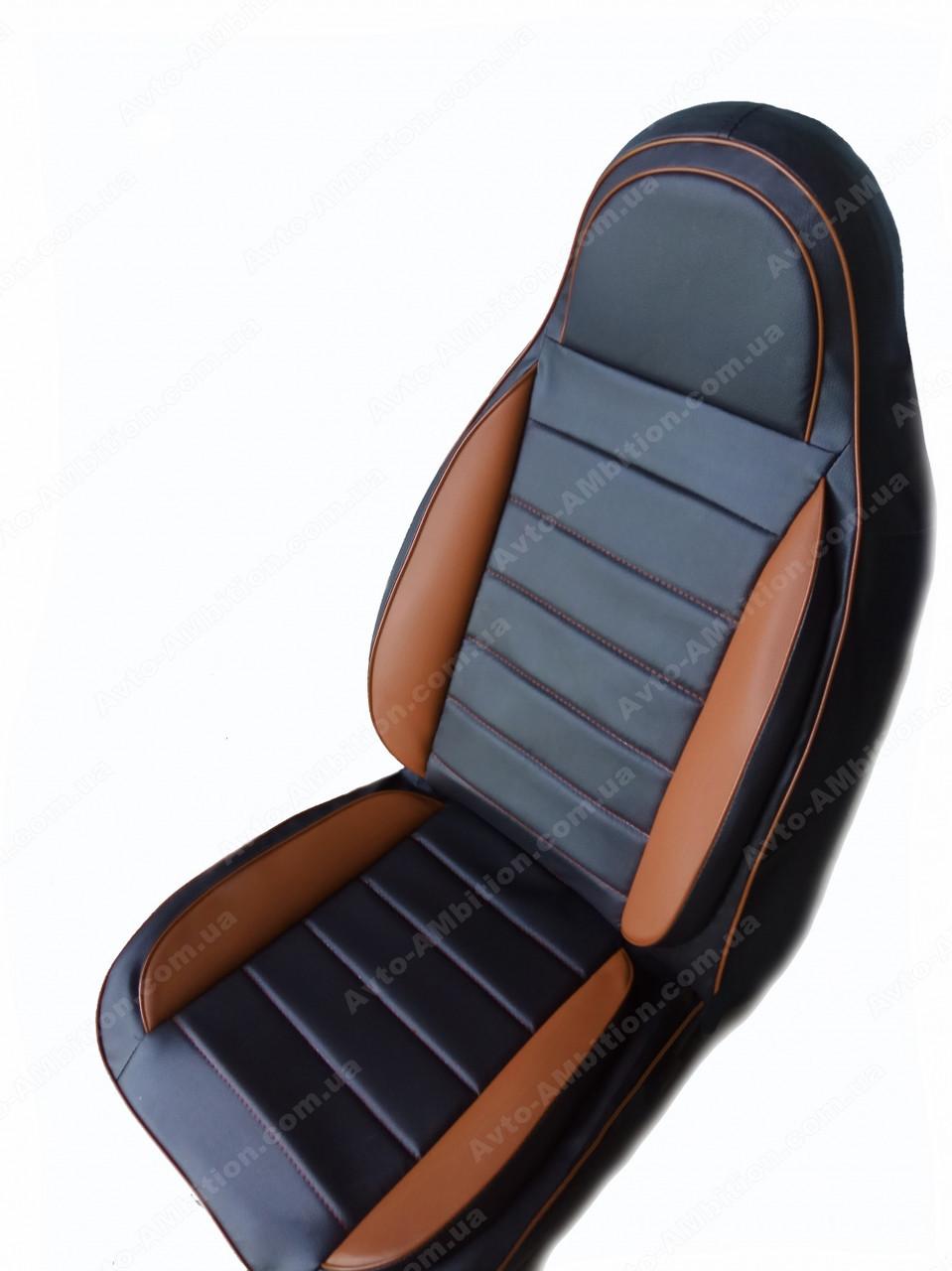 Чехлы на сиденья Хонда Цивик (Honda Civic) (универсальные, кожзам, пилот)