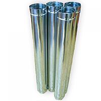 Одностенные дымоходные трубы AISI 304 (кислотостойкая сталь) диаметр от 100 до 600 мм