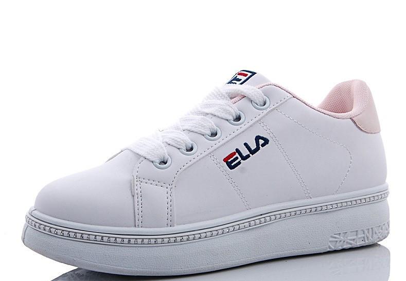 Женские кроссовки белого цвета на низком ходу 36-41р.