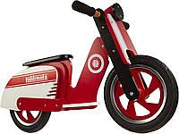 "Беговел 12"" Kiddi Moto Scooter деревянный, красно-белый"