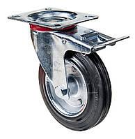 Колёса поворотные Серии 30 Norma Light с крепежной панелью и тормозом ПКК Диаметр: 160мм.