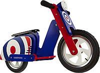 """Беговел 12"""" Kiddi Moto Scooter деревянный, синяя мишень"""