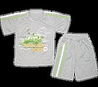 Детский летний костюмчик: футболка рукавом и шортики, тонкий хлопок; ТМ Финтекс, р. 110, Украина