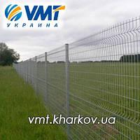Системы ограждения (забор из сетки, секции ограждения) с ребром жесткости, фото 1