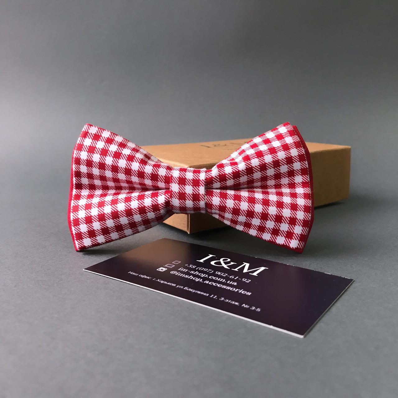 Краватка-метелик I&M Craft в клітку (010404)