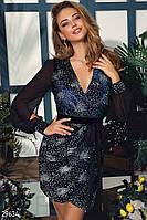 Вечернее платье с пайеткой
