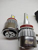 Автолампы LED С6  COB, H16, 3800LM, 6500K, 36W, 12-24V, фото 1