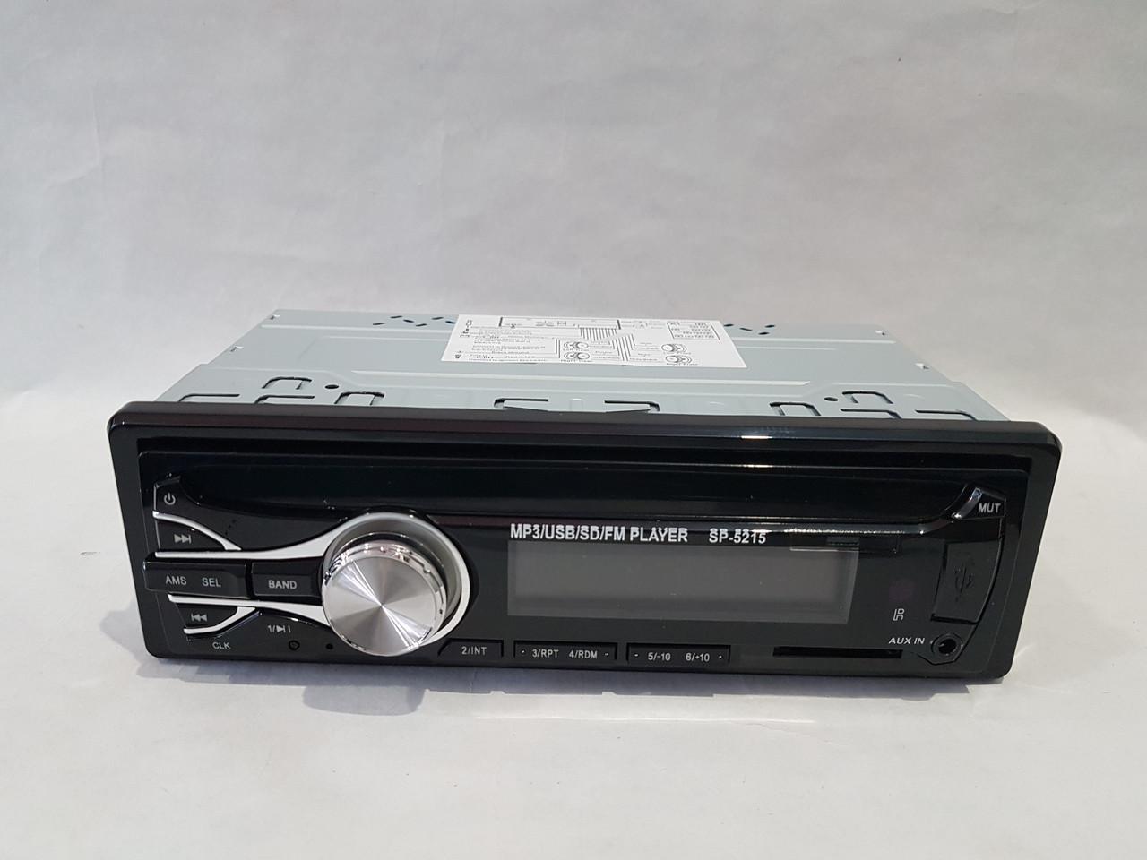 Автомагнитола Car Audio SP-5210 с пультом магнитола USB SD еврофишка синяя подсветка без диска