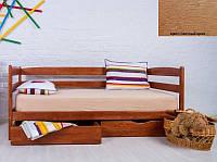 Детская односпальная кровать Ева с ящиками 70х140, цвет светлый орех